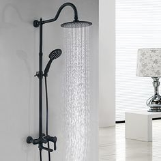 Alert Bathtub Faucets Luxury Silver Brass Bathroom Rain Handheld Shower Double Handle Ceramics Telephone Type Bath Mixer Tap As Effectively As A Fairy Does Bathroom Fixtures