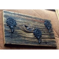 Materials :: Wood :: Barnboard Coat Hooks by RockingHorse Past, $38 Red Barns, Coat Hooks, Artisan, Future, Antiques, Metal, Wood, Projects, Painting