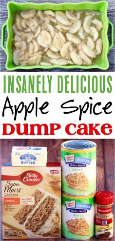 This easy dessert recipe is so delicious and only takes 4 simpl Apple Dump Cake! This easy dessert recipe is so delicious and only takes 4 simpl. This easy dessert recipe is so delicious and only takes 4 simpl. Spice Dump Cake Recipe, Apple Spice Cake, Dump Cake Recipes, Apple Cake, Recipe Spice, Spice Cake Recipes, Apple Dessert Recipes, Easy Desserts, Delicious Desserts