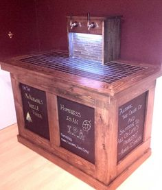 #keezer build with chalkboard panels
