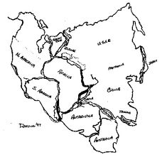 Pangea Cutouts. Great for the map Pangea activity that we have ...