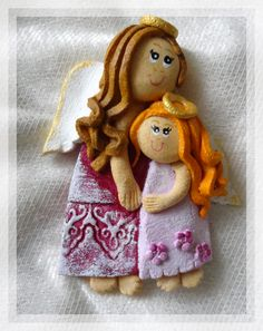 Salt Dough Angels Salt Dough Projects, Salt Dough Crafts, Cinnamon Ornaments, Clay Ornaments, Putty And Slime, Clay Angel, Diy And Crafts, Arts And Crafts, Cute Baby Dolls