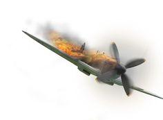 Criando uma montagem usando um avião de guerra.