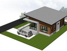 แบบบ านช นเด ยว Modern Style 2 ห องนอน 1 ห องน ำ 76 32 ตร ม พร อม Boq ราคาค าก อสร าง ดาวน โหลดแบบบ าน ก อสร างได เลย House Styles Home Modern