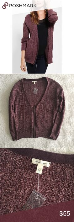 UO Silence + Noise Cardigan New, still has an extra thread attached! Deep neck zipper cardigan! So warm for the winter and fall months! No trades, please 1016sw Urban Outfitters Sweaters Cardigans