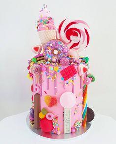 Ver esta foto do Instagram de @sugarandsaltcookies • 1,679 curtidas Cake Decorating Supplies, Cute Cakes, Fancy Cakes, Occasion Cakes, No Bake Cake, Buttercream Cake, Fondant Cakes, 6th Birthday Cakes, 4th Birthday