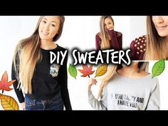 3 Easy & Affordable DIY Sweaters for Fall! - YouTube