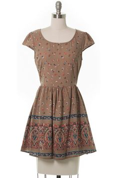 Where the Wild Things Are Paisley Dress, Modcloth Style, Casual, Juniors, Brown #ModclothStyle #Sundress #Casual