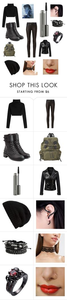 """Biker Girl"" by ridleysnowwood ❤ liked on Polyvore featuring Valentino, rag & bone, Philosophy di Lorenzo Serafini, Burberry, MAC Cosmetics, Chicnova Fashion and Rick Owens"