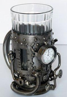 Russian tea mug Arte Steampunk, Steampunk Crafts, Steampunk Gadgets, Steampunk Design, Steampunk Cosplay, Steampunk Lamp, Steampunk Fashion, Gothic Fashion, Steampunk Accessories