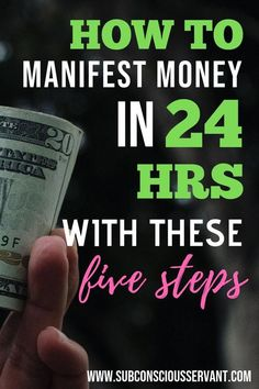 Need to manifest money fast? Then use these 5 law of attraction steps. Can work even if you need money quick, like in 24 hours quick. Will artificial intelligence conquered human consciousness Manifestation Law Of Attraction, Law Of Attraction Affirmations, Manifestation Journal, Secret Law Of Attraction, Law Of Attraction Quotes, Attraction Facts, Wealth Affirmations, Positive Affirmations, Morning Affirmations
