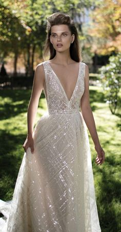 berta fall 2016 bridal gorgeous pretty a line wedding ball gown dress sleeveless deep v plunging neckline romantic -- Berta Fall 2016 Wedding Dresses 2016 Wedding Dresses, Bridal Dresses, Wedding Gowns, Wedding Blog, Wedding Dress Sparkle, Flowy Wedding Dresses, Plaid Wedding Dress, Wedding Flowers, Wedding Ideas