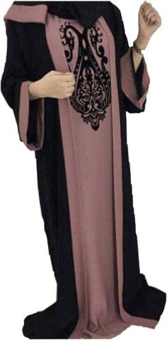 This Chic abaya dress is the perfect balance between glam and modesty. It is a fashion favorite that provides a stylish look and a comfortable fit. A lightweight full length abaya with loose fitted sleeves that can be worn in any occasions, perfect to add a little drama to an otherwise
