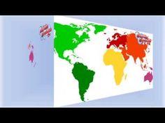 Aprender los continentes en inglés para niños
