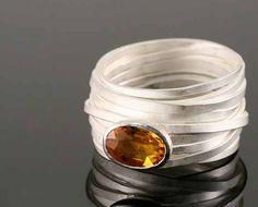 Tagliatelli Ring by Disa Allsopp