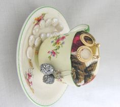 A personal favorite from my Etsy shop https://www.etsy.com/ca/listing/263417607/antique-teacup-jewelry-holder-pincushion