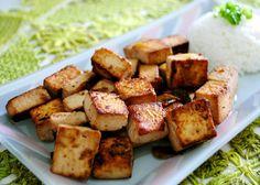 Cubinhos de Tofu ao Shoyu, Gengibre e Alho