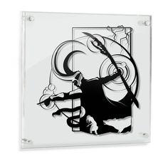 Loki and children hand cut paper art wall artwork silhouette