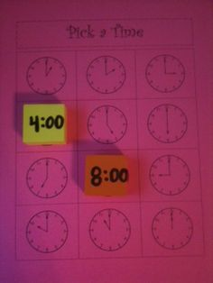 I need to do this with my 6th graders who can't read clocks unless they are digital!  MATCH THE TIME WITH THE CLOCK!