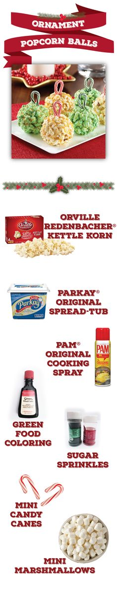 6 holiday decorations that really pop | easy DIY popcorn decorations | tree ornament twist on popcorn balls