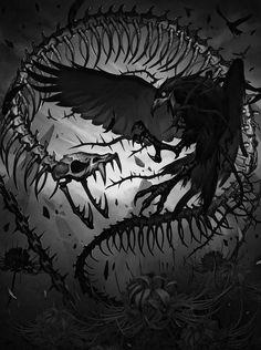 The amazing digital art of mist XG Dark Fantasy Art, Fantasy Artwork, Dark Art, Gothic Artwork, Arte Horror, Horror Art, Fantasy Creatures, Mythical Creatures, Arte Obscura