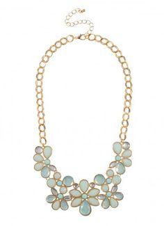 Garden Gloss Chain Bib Mint at Prima donna