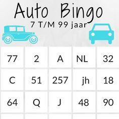 Auto bingo & speurtocht voor onderweg. Vanaf 6 jaar Diy For Kids, Cool Kids, Little Games, Busy Bags, Party In A Box, Diy Games, Baby Hacks, Auto Bingo, Go Camping