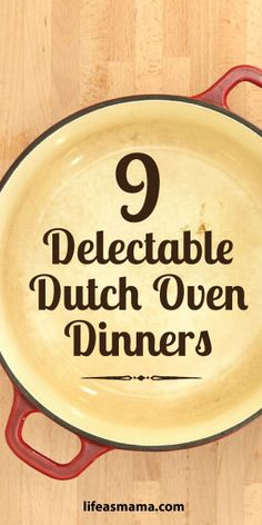 Want some inspiration for dinner? Try out our 9 delectable dutch oven dinners that the whole family will be sure to love! Enamel Dutch Oven, Cast Iron Dutch Oven, Cast Iron Cooking, Oven Cooking, Cooking Recipes, Dutch Oven Recipes Enameled, Cooking Light, Skillet Cooking, Skillet Recipes