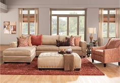 picture of Cindy Crawford Home Lyndhurst 4 Pc Sectional Living Room  from Living Room Sets Furniture