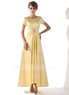 $114.99 - A-Line/Princess Scoop Neck Asymmetrical Charmeuse Mother of the Bride Dress With Ruffle Beading (008005699) http://jjshouse.com/A-Line-Princess-Scoop-Neck-Asymmetrical-Charmeuse-Mother-Of-The-Bride-Dress-With-Ruffle-Beading-008005699-g5699