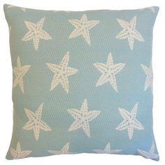 """The Pillow Collection Macawi Outdoor Throw Pillow Color: Baltic, Size: 18"""" x 18"""""""