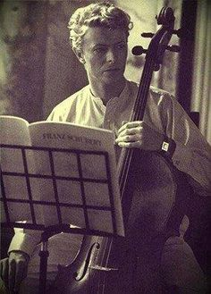 """Remembering the one, the only David Bowie He even learned to play the cello for a movie part. As someone said: """"He worked like a (...) until he could play a decent Bach cantata."""""""