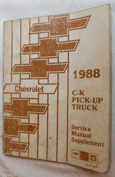Haynes repair manual chrysler mid size dodge plymouth 1982 thru 1995 1988 chevrolet c k pick up truck service manual supplement fandeluxe Gallery