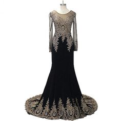 New Fashion Muslim Evening Dress Long Sleeves Chiffon Appliques Womens Formal Gowns Court Train Chiffon Back See Through AidilAdha ** AliExpress Affiliate's Pin.  Locate the AliExpress offer simply by clicking the VISIT button