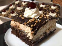 Greek Desserts, Greek Recipes, Greek Pastries, Greek Cooking, Chocolate Sponge, No Bake Cake, I Foods, Nutella, Dessert Recipes