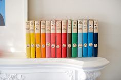 lovely colourful book collection in this gordon burniston photo.