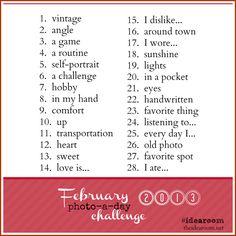 February Photo-a-day 2013 Challenge via Amy Huntley (The Idea Room) use hashtag #idearoom