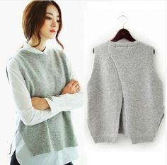 Cheap vest sweater, Buy Quality sweater vest directly from China wool sweater jacket Suppliers: 2017 spring loose big yards female hedging sweater vest sweater vest round neck wool vest waistcoat jacket Winter Sweaters, Sweaters For Women, Red Waistcoat, Loose Sweater, Sweater Vests, Sweater Dresses, Wool Vest, Pulls, Cashmere Sweaters
