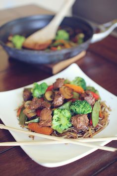 Asian Stir Fry with Low Carb 'Noodles'
