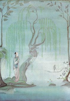 An illustration by Kay Nielsen for The Nightingale.