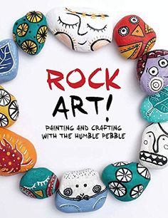 """8.31.2015. Rock Art!: Painting and Crafting with the Humble Pebble by Denise Scicluna (March 2015).  Nice for pre-teen program ideas. From making your own """"rocks"""" to painting them in various ways, this book has a lot of idea jump-starters. I especially like the ones with fun text or mandala patterns."""