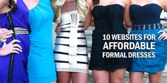 Don't know where to buy affordable formal dresses? Here is a list of Surviving College's top 10 websites to buy inexpensive formal wear.