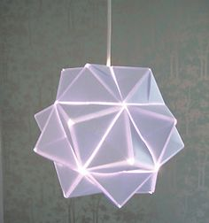 Tutorial for lovely origami lampshade