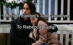 General Hospital Spoilers: Michael Easton's Heartbreaking Goodbye To Rebecca Budig   Celeb Dirty Laundry