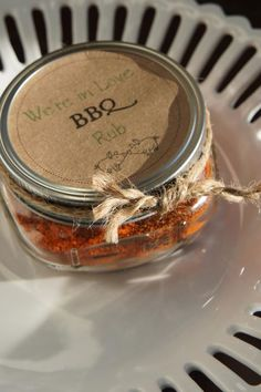 BBQ Love favor - Perfect for a southern wedding ♥