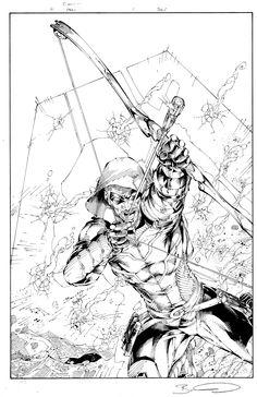 Green Arrow #1 Cover Brett Booth Comic Art