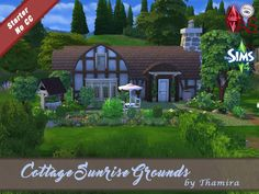 Sims 4 CC's - The Best: Cottage Sunrise Grounds by Thamira