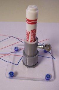 Coloring - adapted sliding marker holder