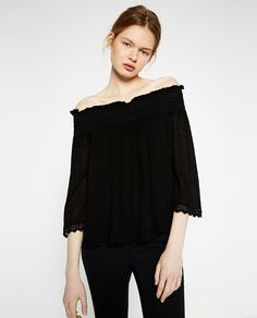 Image 3 of OFF-THE-SHOULDER TOP from Zara