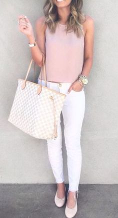 a42f5c3db06 26 Spring Outfits You Need To Copy Right Now. White Jeans ...